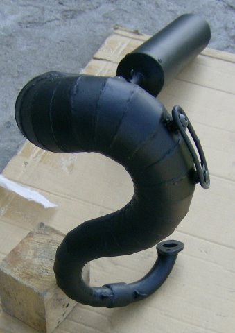 Резонатор глушителя мотоцикла