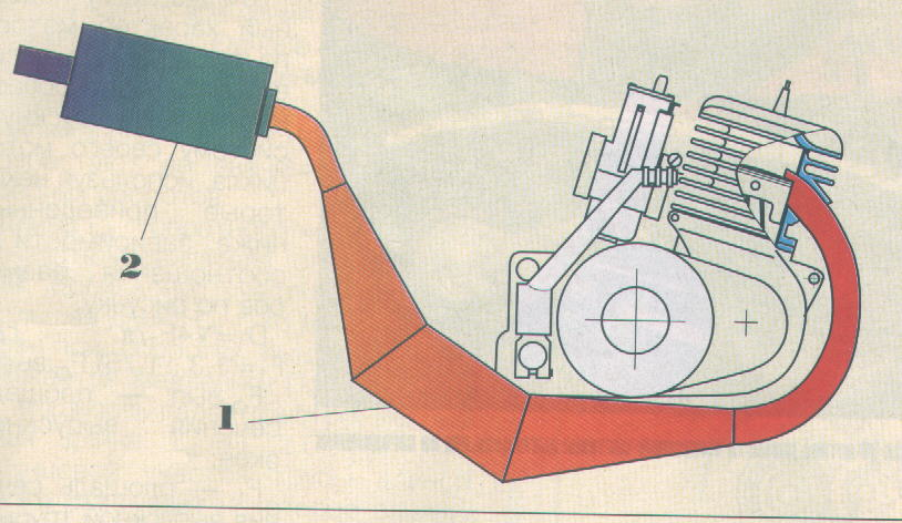 Резонатор для двухтактного двигателя 68